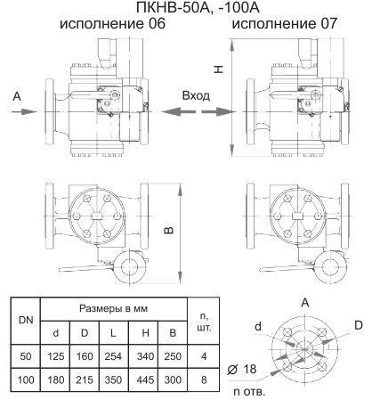 Poza cu Клапаны предохранительные запорные ПКН-50А, -100А, ПКВ-50А, -100А, ПКНВ-50А, -100А
