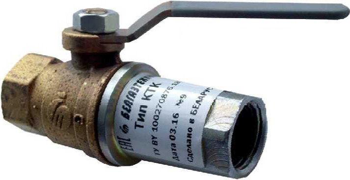 Poza cu Клапан термозапорный с краном шаровым КТК