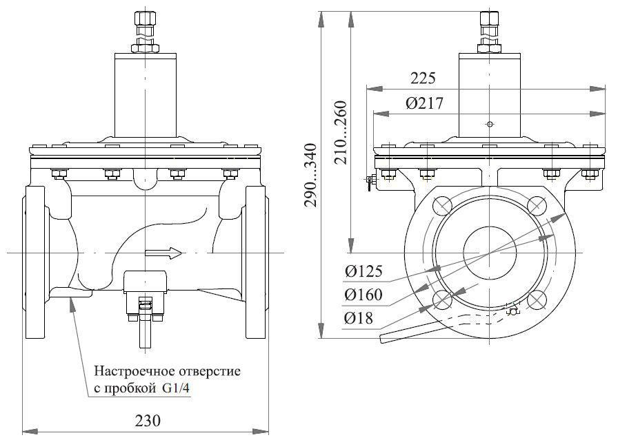 Poza cu Клапаны предохранительные сбросные ПСК-25, -50