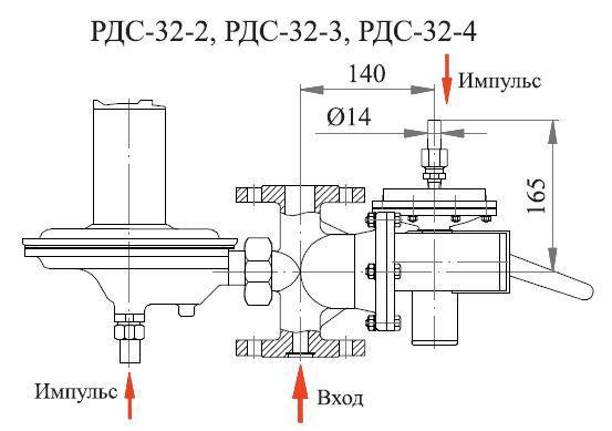Poza cu Регулятор давления комбинированный РДС-32