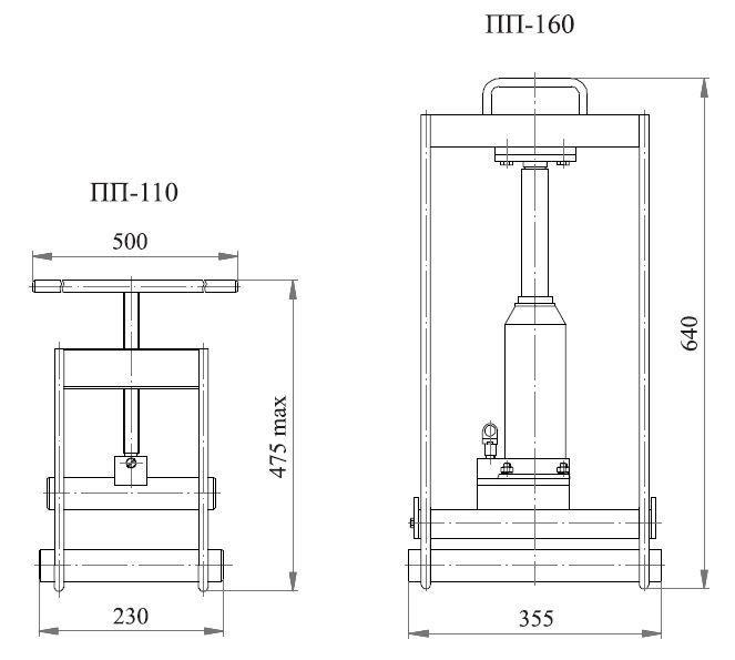 Poza cu Приспособления для пережима труб ПП-110, ПП-160